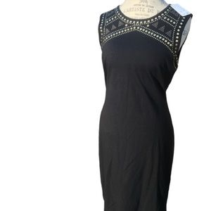 NWT Black Dress with Gold Accents